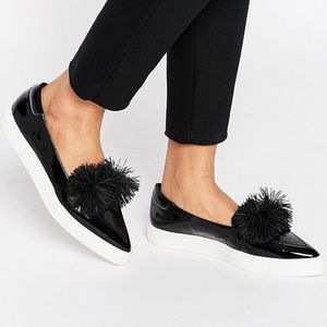 ASOS LOST INK Toni Pom Pom pointed toe sneakers 8